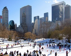 Central Park's Wollman Rink after the Trump renovation