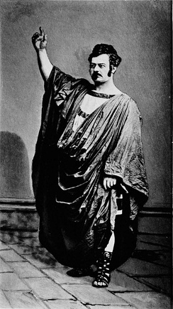 Edwin Forrest as Damon in Damon and Pythias