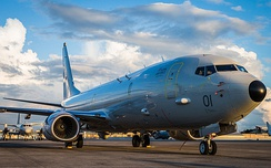 The first P-8 Poseidon delivered to the Royal Air Force.