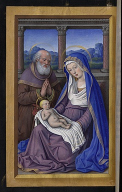 Miniature in the Grandes Heures of Anne of Brittany, 1503–08, by Jean Bourdichon