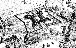 Fort Le Boeuf in 1754. In the spring of 1753, the French began to build a series of forts in the Ohio Country.