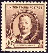 Remington was honored in the Famous Americans Series postal Issues of 1940