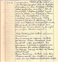 A page from a notebook used as hand written diary