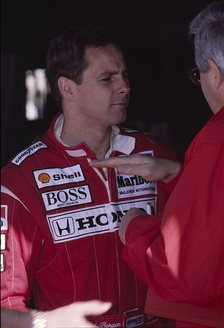Gerhard Berger of Scuderia Ferrari finished the season ranked third (Pictured driving for McLaren).