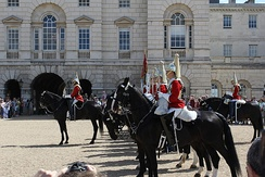 The New Guard, formed from the Life Guards, on Horse Guards Parade