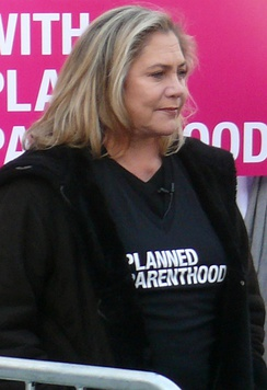 Turner at the Planned Parenthood Rally in New York City in 2011