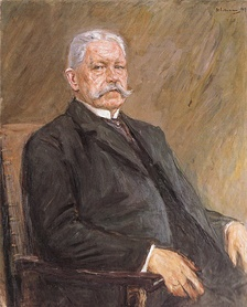 President Hindenburg as painted by Max Liebermann