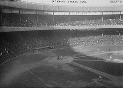 The Polo Grounds during Game 1 of the series.