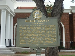 Miller County, Georgia historical marker