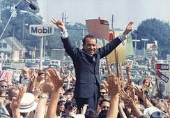 Nixon during his presidential campaign, July 1968