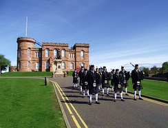 Pipe band at Inverness Castle