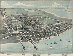 Map of Corpus Christi in 1887
