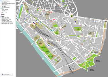 Map of the 12th arrondissement