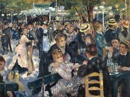 Auguste Renoir, Bal du moulin de la Galette, 1876, oil on canvas, 131 cm × 175 cm (52 in × 69 in), Musée d'Orsay
