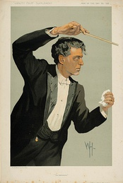Mascagni caricatured in Vanity Fair, 1912