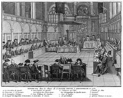 Members of a Reformed Synod in Amsterdam by Bernard Picart (1741)