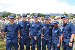 Coast Guardsmen in 2013 wearing ODUs