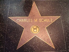 Schulz's star on the Hollywood Walk of Fame