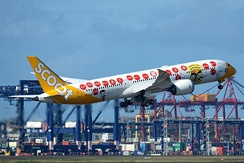 Scoot Boeing 787-9 in SG50 livery