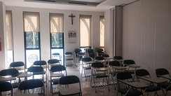 A classroom at Jakarta Cathedral for religious education/purposes used by catechumens