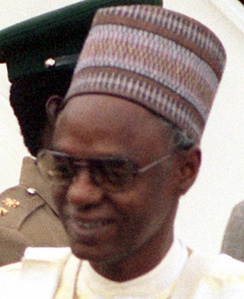 Shehu Shagari of the Second Nigerian Republic was the first democratically elected President of Nigeria from 1979 to 1983.