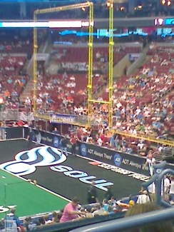One of the Philadelphia Soul's end zones
