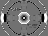 An early WPIX test pattern, 1948, 1949 to 1976.