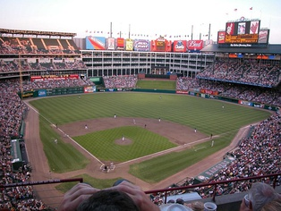 Globe Life Park in Arlington, the team's home stadium from 1994 to 2019