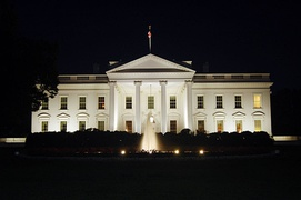 White House at night, view from the north