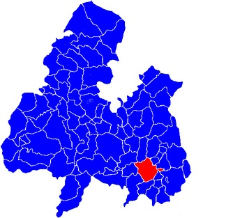 The civil parish of Thurles, shown within Tipperary North.