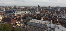 View of the city from Dijon Cathedral