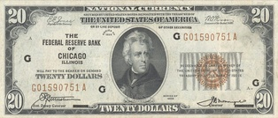 Andrew Jackson – Series of 1929 $20 bill
