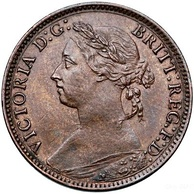 Victorian farthing, 1884