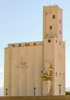 Welfare Square's 178-foot-tall grain elevator in Salt Lake City