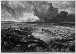 Yarmouth, Norfolk engraving by William Miller after Turner