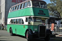 Leyland Titan double decker bus in Sydney, Australia