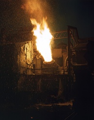 Bessemer furnace in operation in Youngstown, Ohio, 1941.