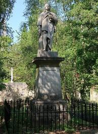 London's only public statue to Isaac Watts is in Abney Park Cemetery, Stoke Newington