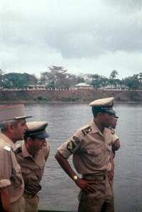 Gabonese and French military officers, 1959