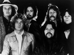 Seger (bottom right) and the Silver Bullet Band in 1977.