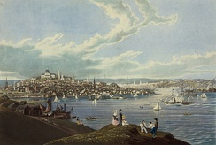 View of Boston from Dorchester Heights, 1841.