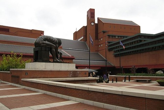 The British Library in London, by Colin St John Wilson, completed 1997
