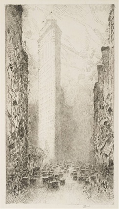 Washington's Birthday—Fifth Avenue at 23rd Street, by Childe Hassam, 1916
