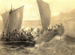 """Cossaks of Azov fighting a Turk ship"" by Grigory Gagarin"