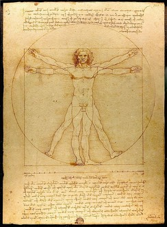 Leonardo da Vinci's Vitruvian Man (c. 1490) demonstrates the effect writers of Antiquity had on Renaissance thinkers. Based on the specifications in Vitruvius' De architectura (1st century BC), Leonardo tried to draw the perfectly proportioned man. (Museum Gallerie dell'Accademia, Venice)