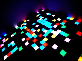 Major disco clubs had lighted dance floors, with the lights flashing to complement the beat.