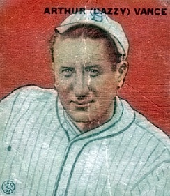 1933 Goudey Baseball Card of Dazzy Vance #2