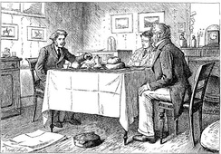 """Do you take tea, or coffee, Mr Gargery?"" by F. A. Fraser. c. 1877"