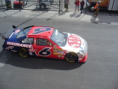 Ragan at Las Vegas Motor Speedway in 2008