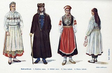 Estonian national costumes:1. Kadrina 2. Mihkli 3. Seto 4. Paistu